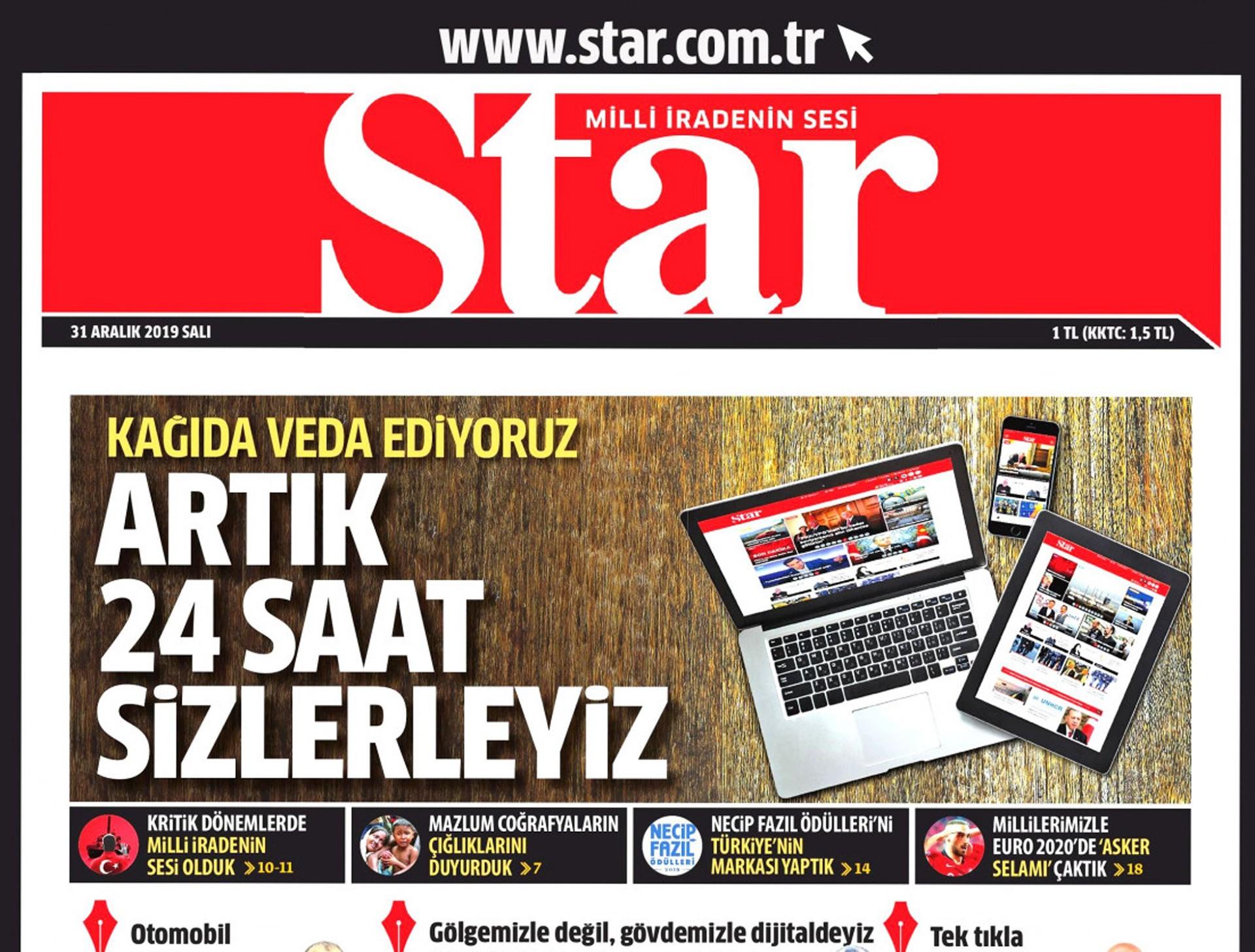 Star gazetesinin son sayısı