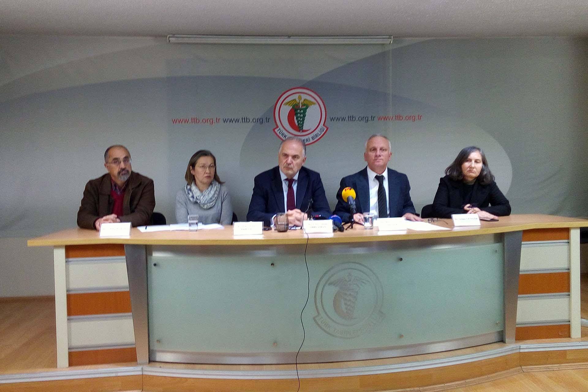 Türk Tabipleri Birliği basın toplantısı düzenliyor