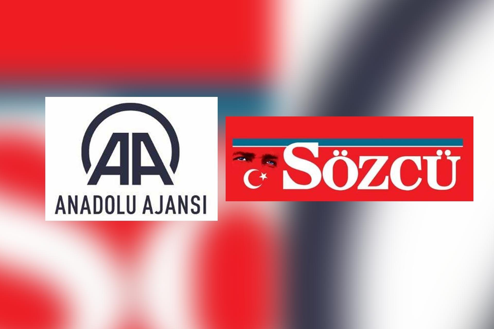 Anadolu Ajansı ve Sözcü gazetesi logoları