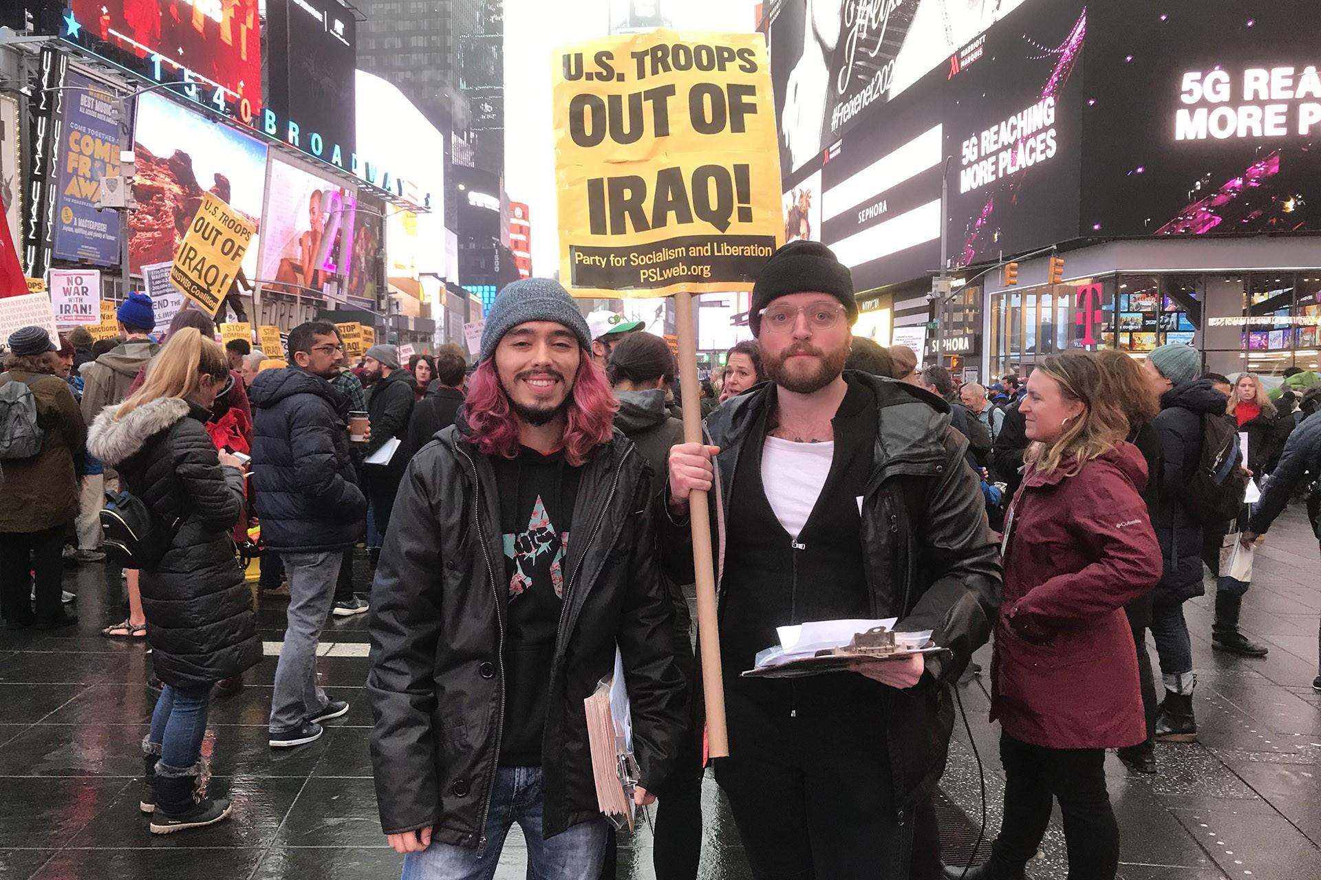 ABD'de Times meydanında eylem