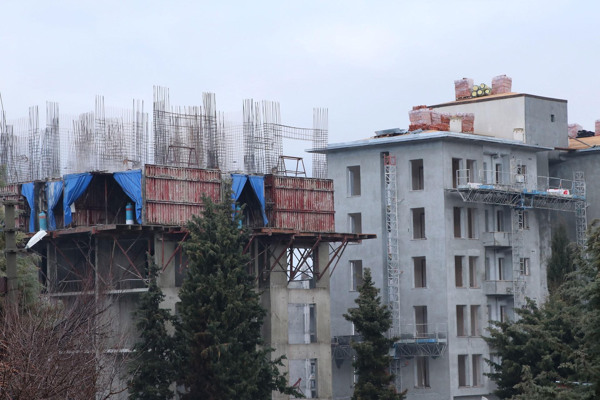 Hakan Çinpolat'ın düştüğü inşaat