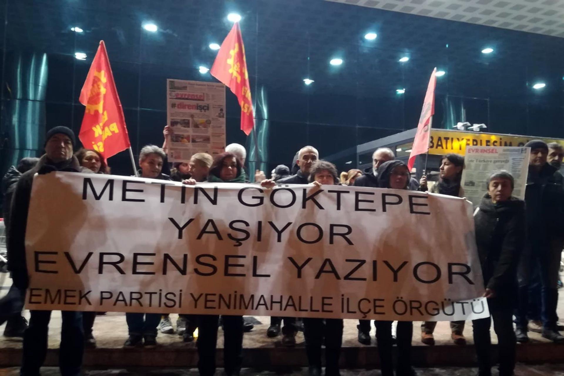 Evrensel Muhabiri Metin Göktepe, öldürülüşünün 24'üncü yıl dönümünde Ankara Yenimahalle'de anıldı