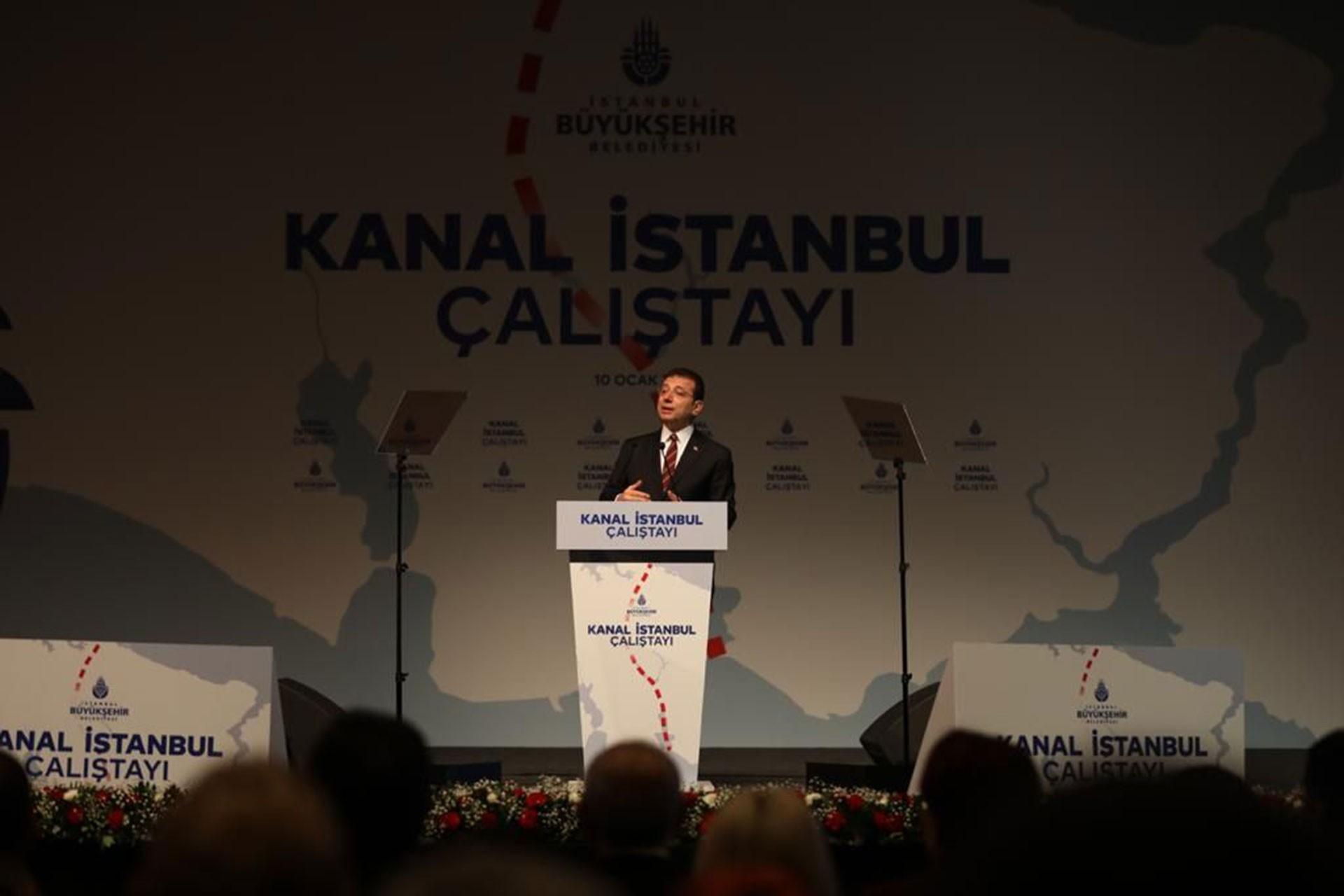 Kanal İstanbul Çalıştayı'nda konuşan Ekrem İmamoğlu
