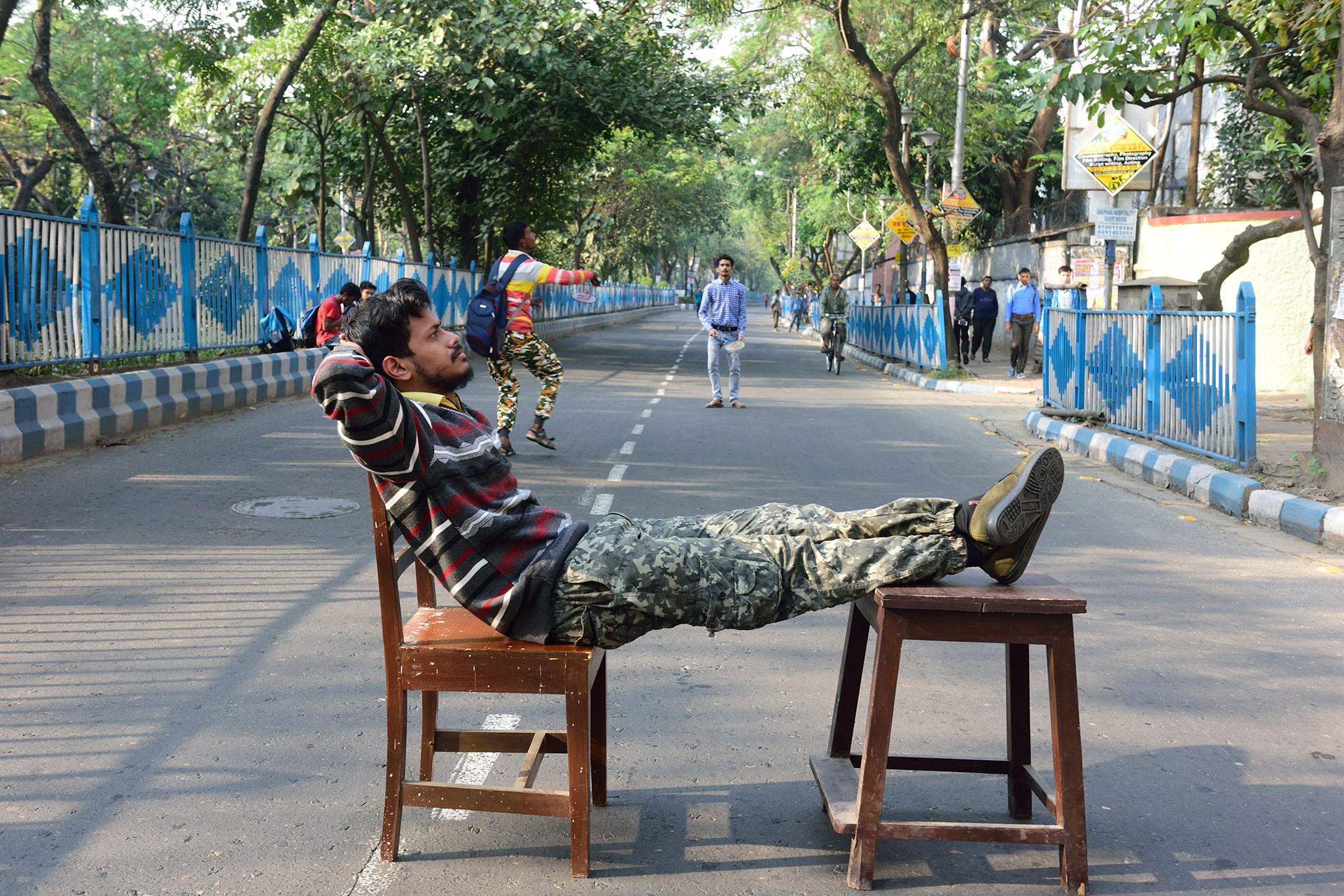 Hindistan'da grevdeki üniversite öğrencisi