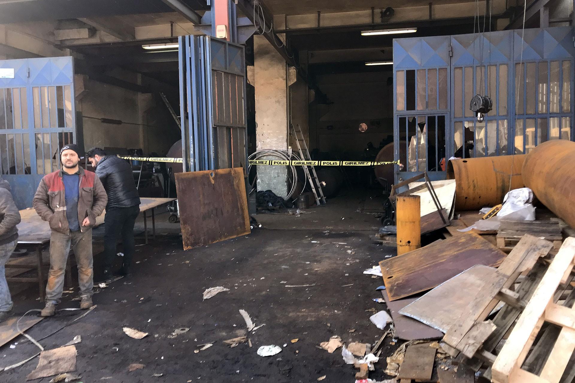 patlamanın yaşandığı iş yeri