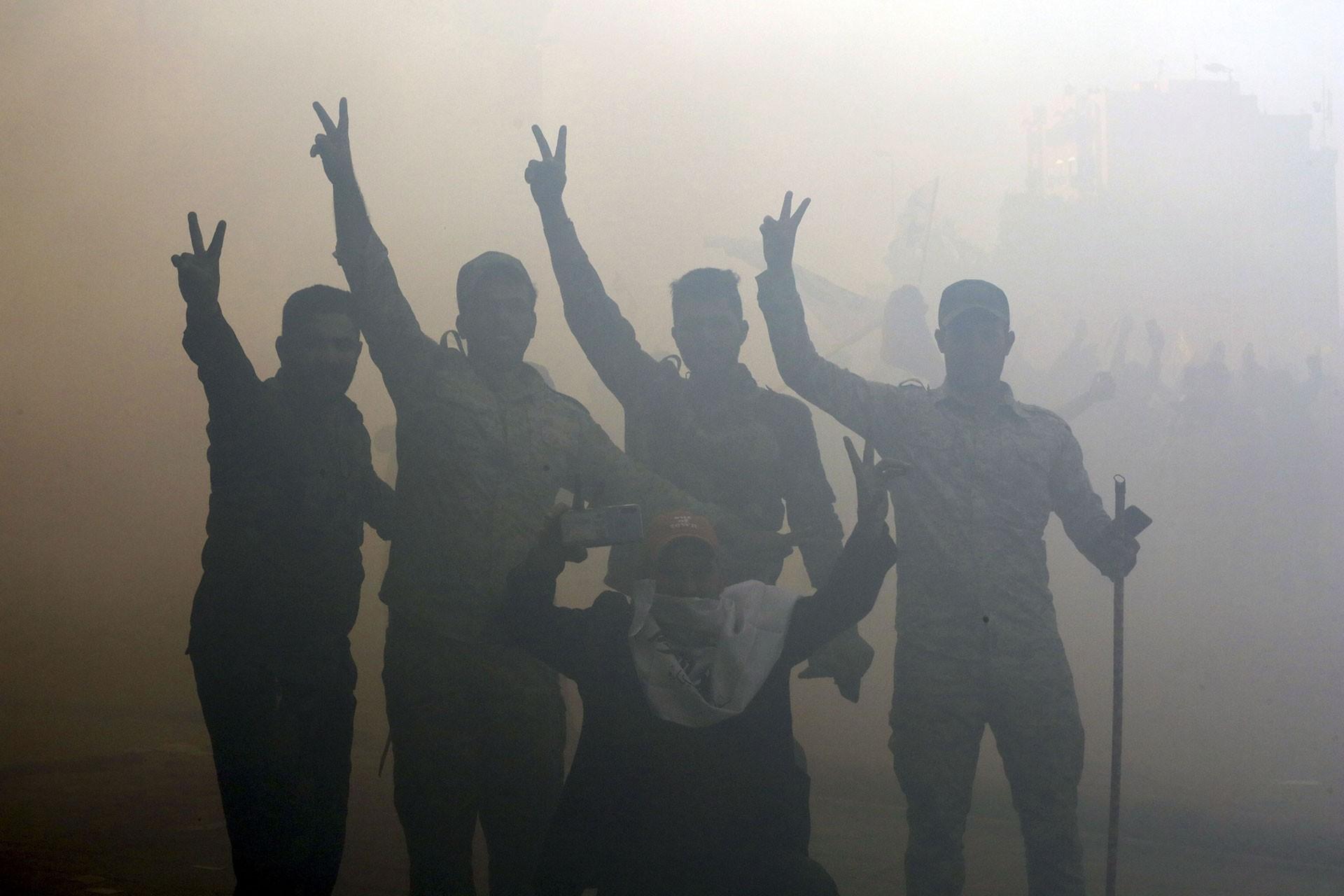 İran ve ABD'ye tepki gösteren Iraklılar
