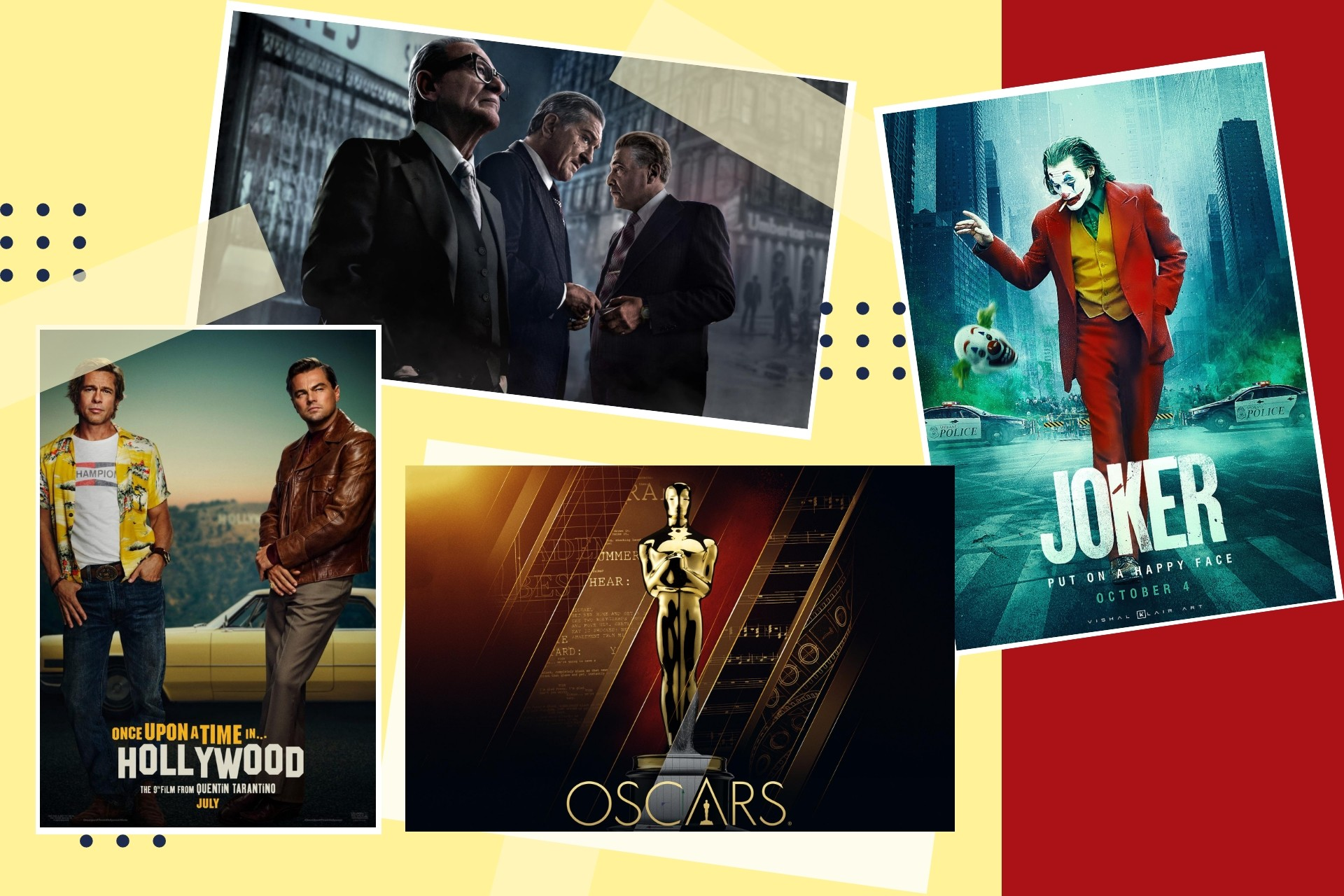 Oscar'a aday gösterilen filmlerin afişleri.