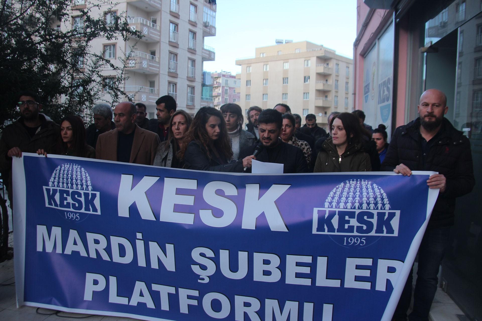 KESK Mardin Şubeler Platformu üyeleri