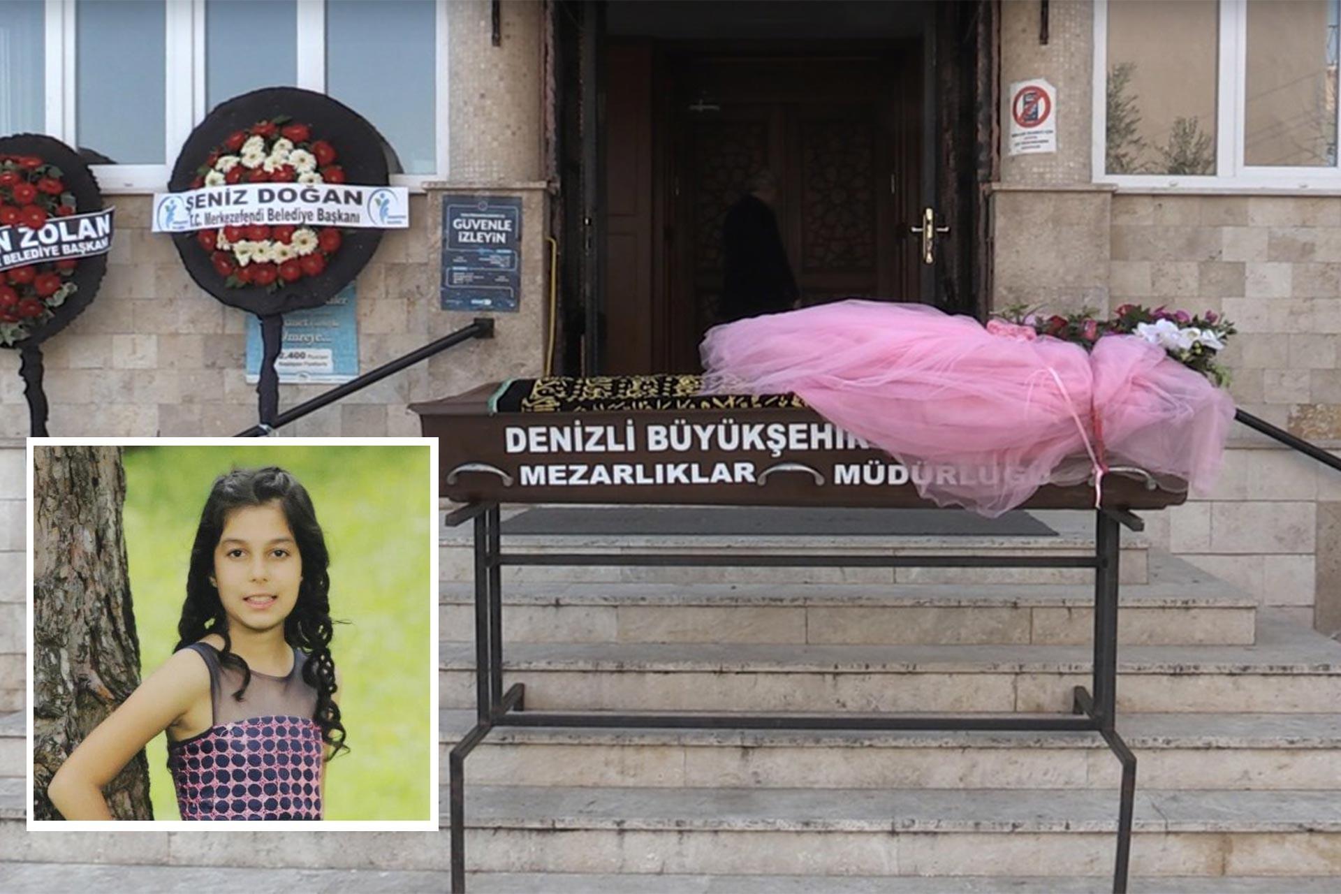 Seda Kesikbaş'ın tabutu ve vesikalık fotoğrafı