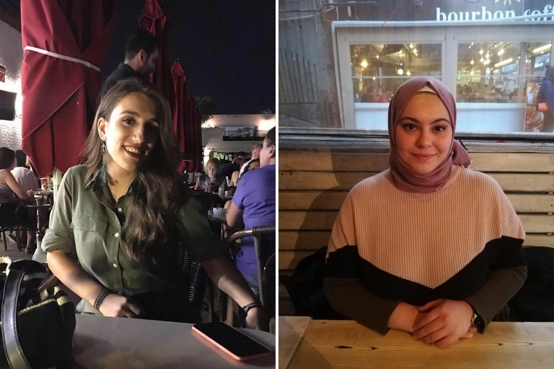 Hacettepe Üniversitesi Beytepe Kadın Yurtlarında kalan kadın öğrencilerden Nur Ertürk ve Büşra Kırmızı