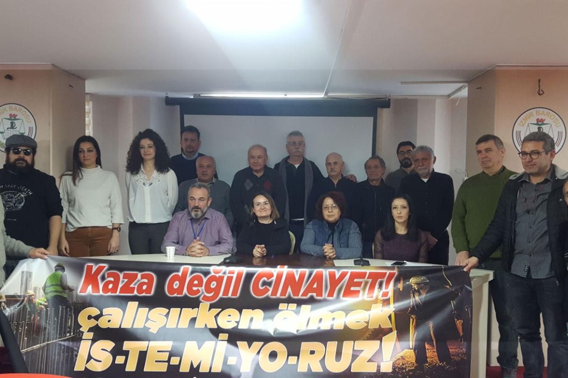 İSİG İzmir Meclisi İzmir iş cinayetleri raporunu açıkladı.