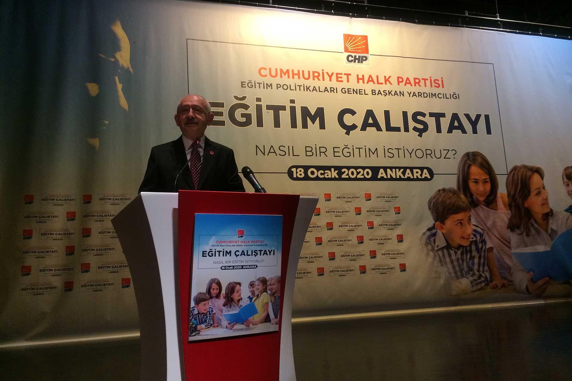 Kemal Kılıçdaroğlu'nun katıldığı eğitim çalıştayı