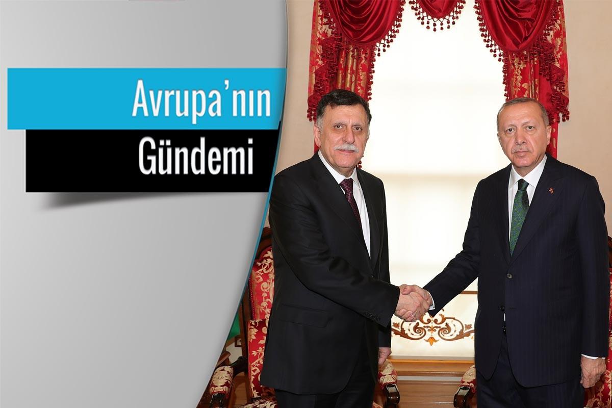 Libya Ulusal Mutabakat Hükümeti Başkanlık Konseyi Başkanı Fayez Mustafa El Sarrac ve Recep Tayyip Erdoğan