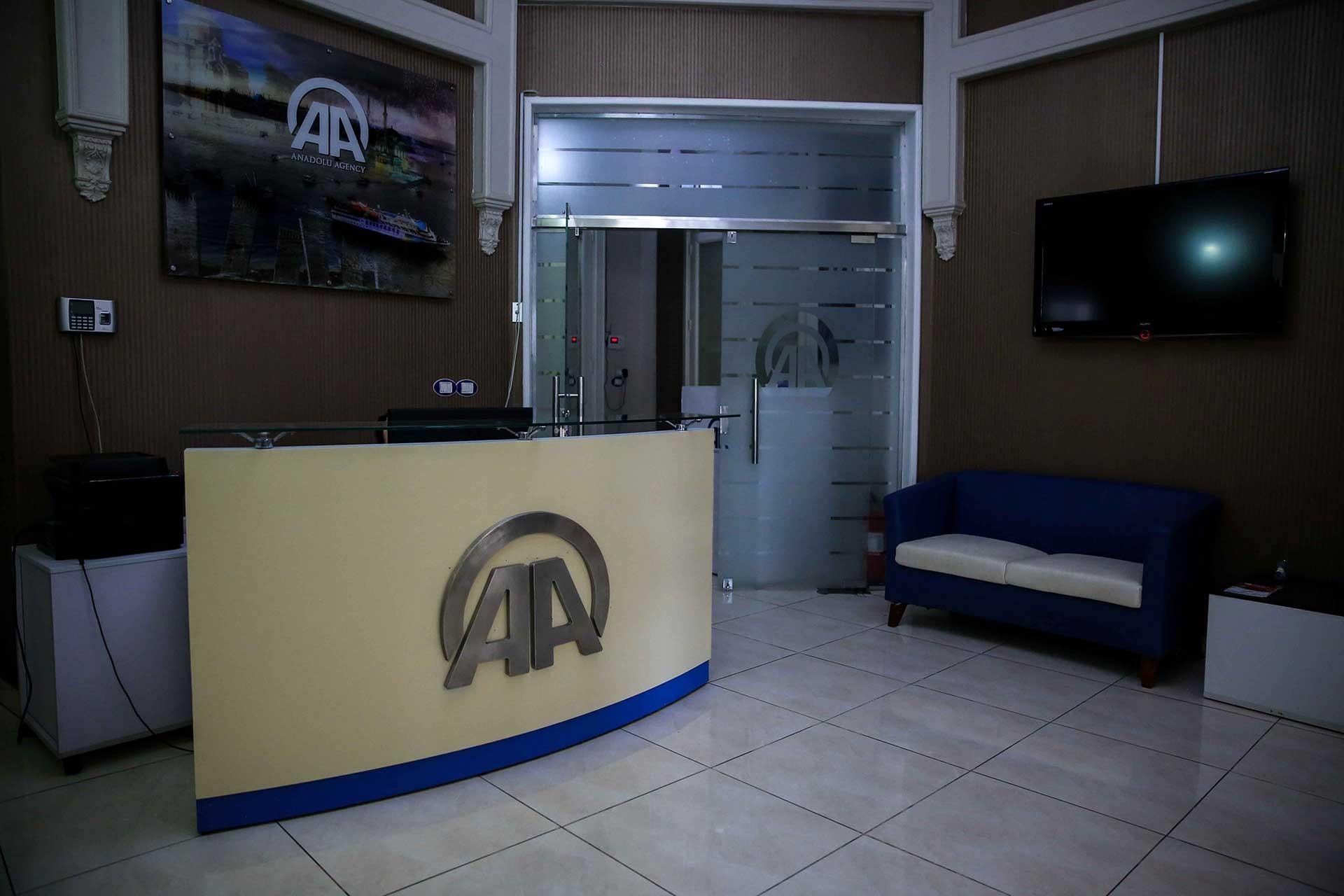 AA'nın Mısır'da bulunan bürosundan bir kare