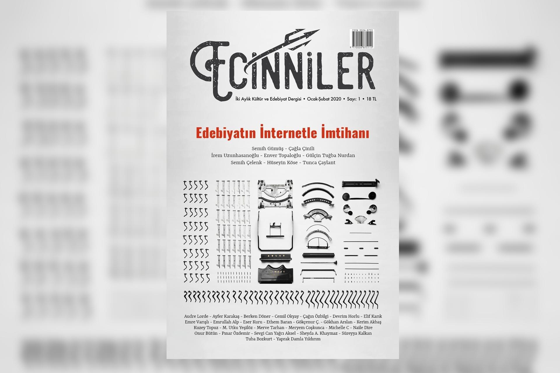 Ecinniler'in 2020 Ocak ayında yayınlanan ilk sayısının kapağı