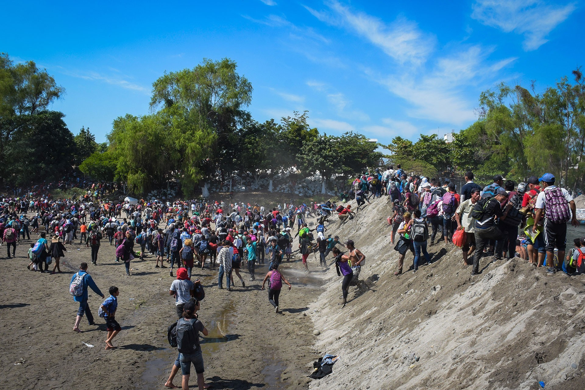 Meksika sınırındaki mülteciler