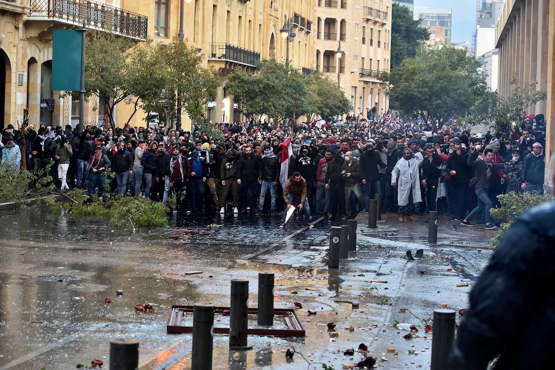 Lübnan'daki protestolardan