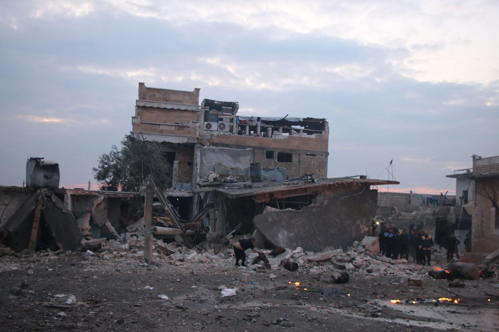 İdlib'te hava saldırılarının yapıldığı yer