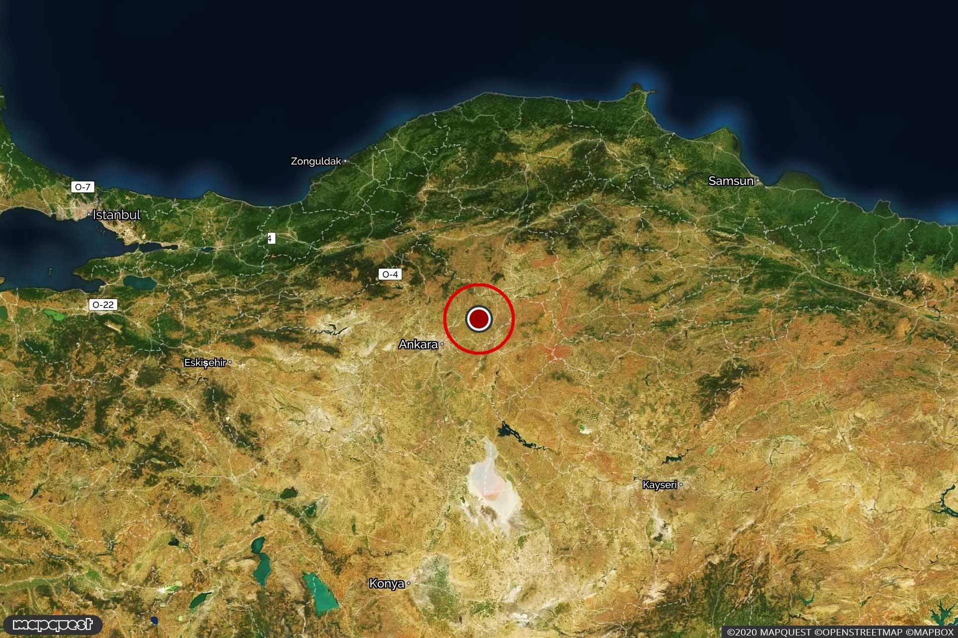 Ankara işaretli harita