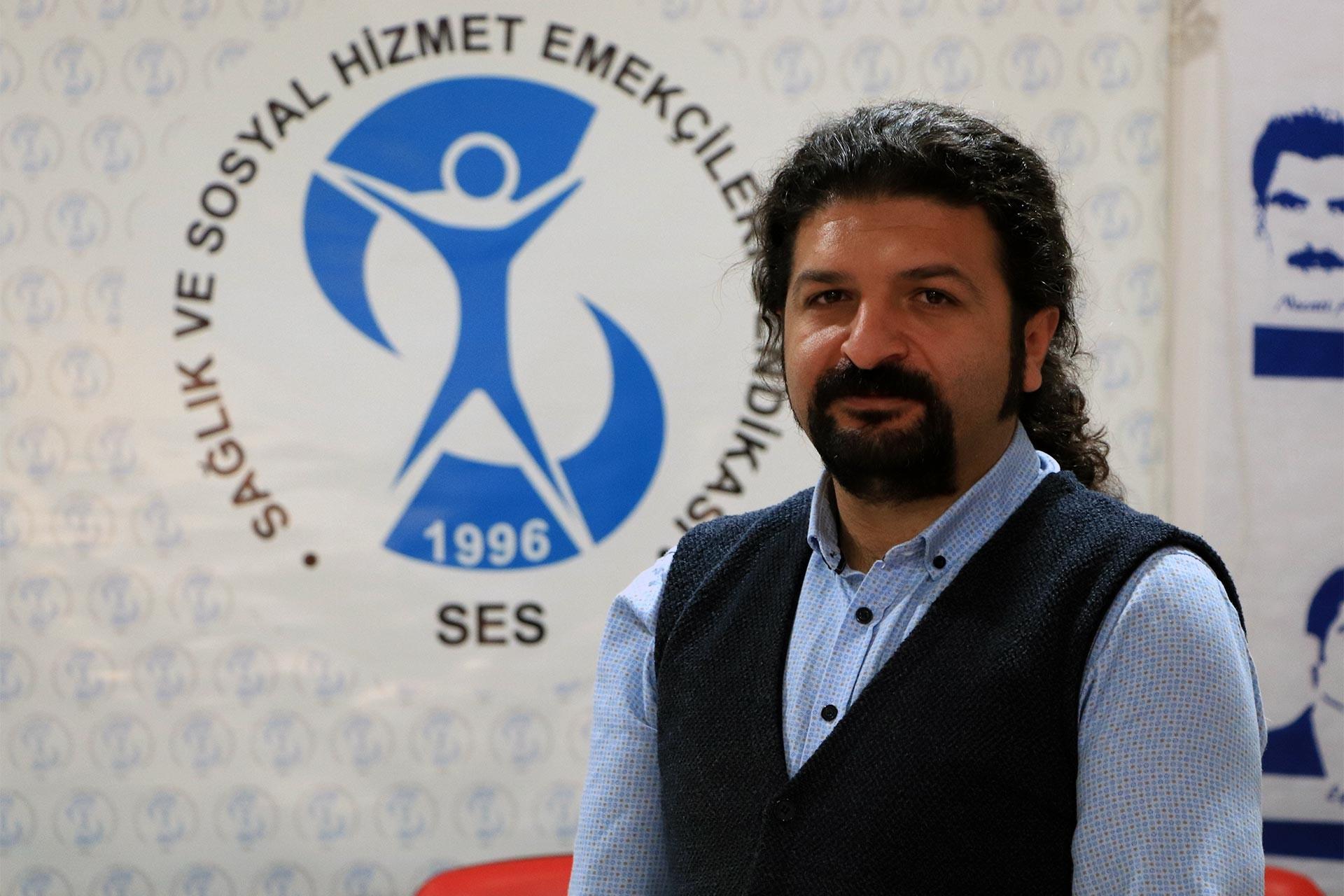 Göreve iade edilen SES Diyarbakır Şubesi Eş Başkanı Recep Oruç