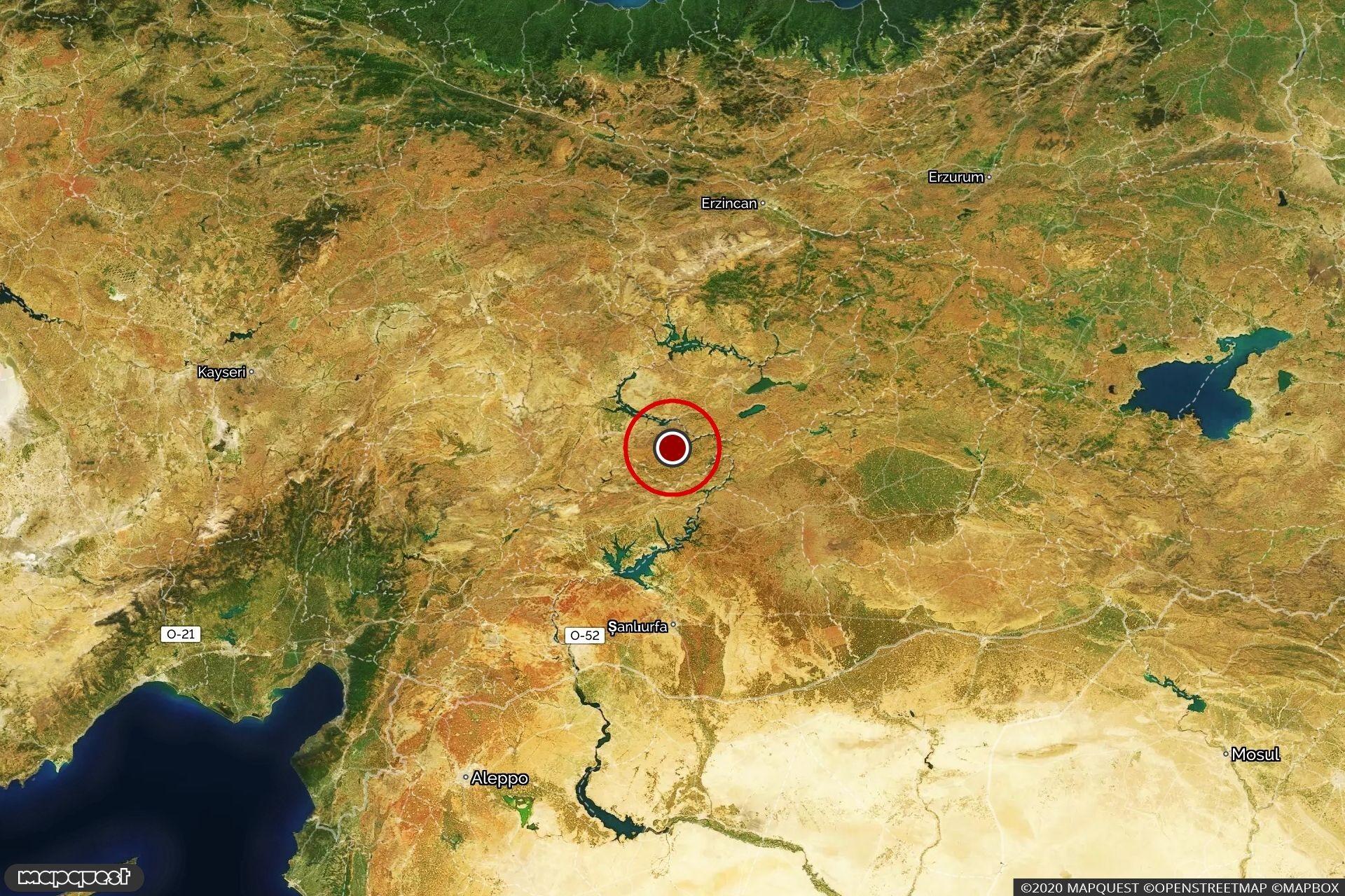 Malatya'da depremin olduğu bölge