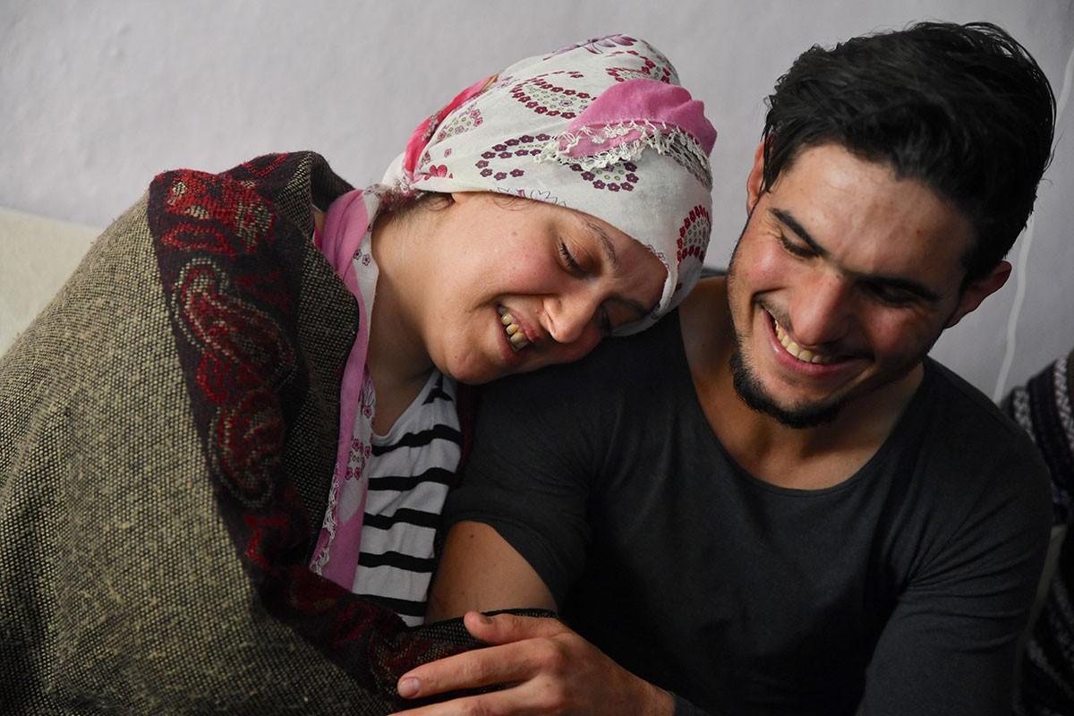 Dürdane Aydın ve ailesi ile Suriyeli Mahmud el Osman buluştu.