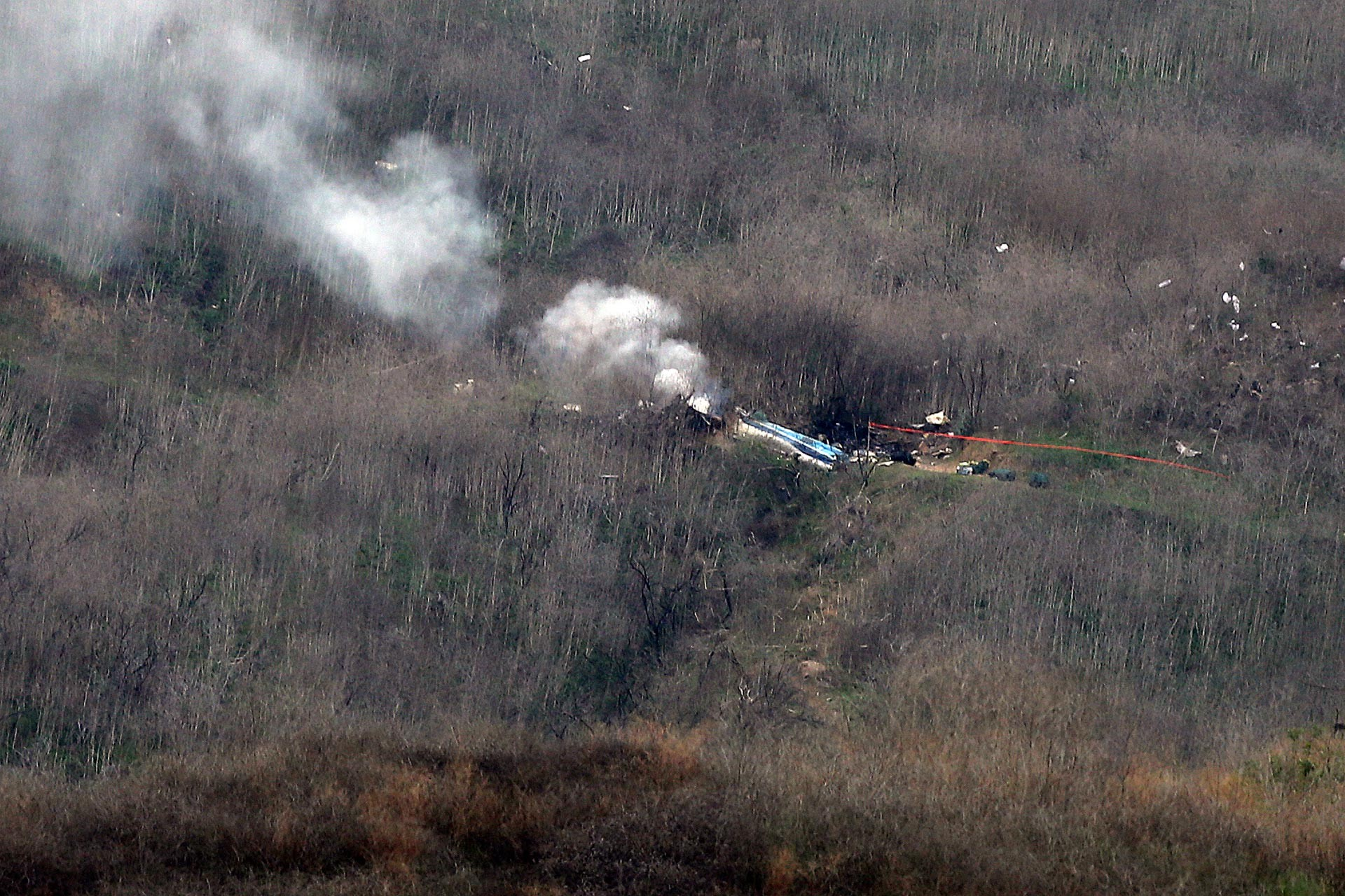 Kobe Bryant'ın hayatını kaybettiği helikopter kazasının ardından çekilen fotoğraf