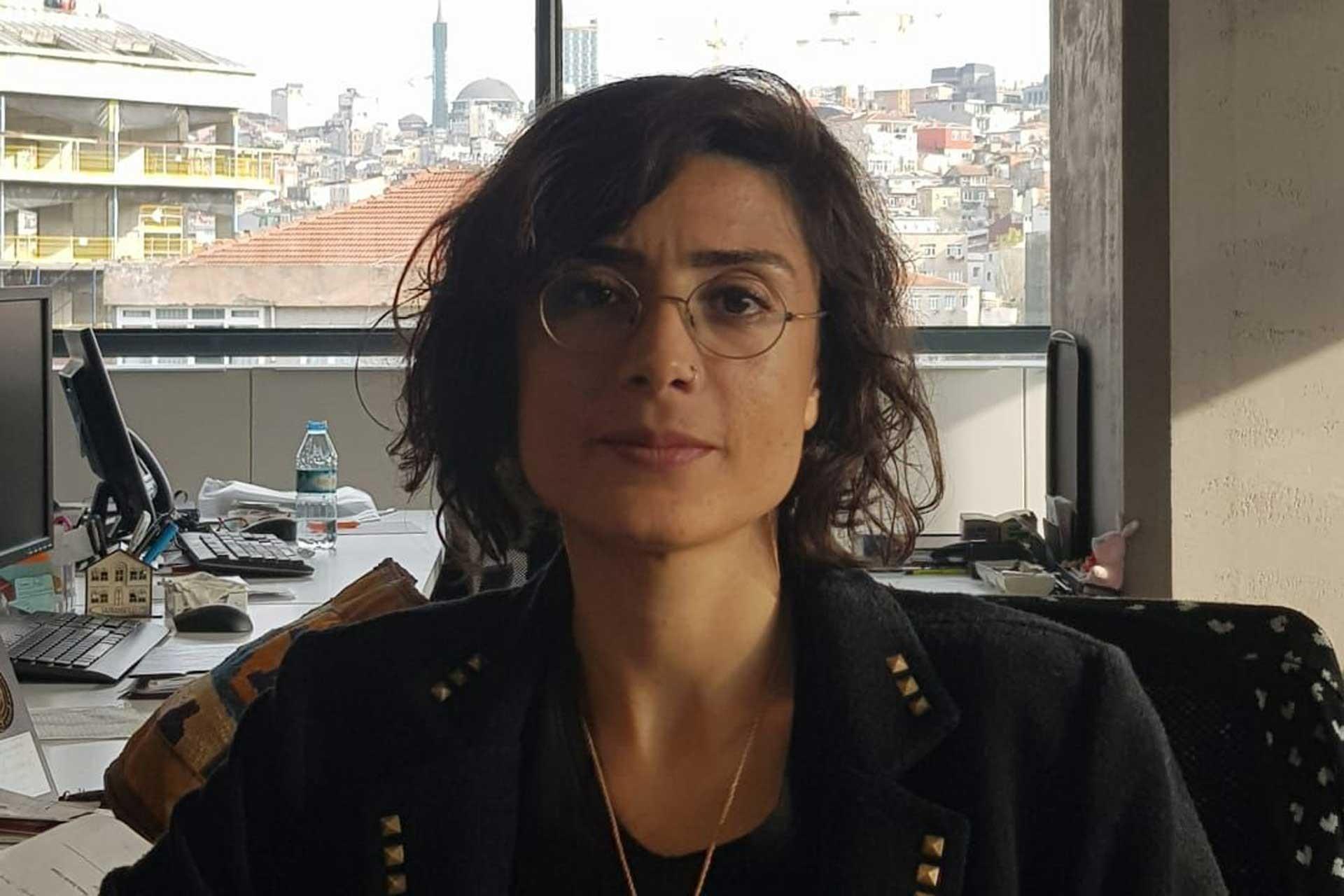 Çevre Mühendisleri Odası (ÇMO) İstanbul Şubesi kongresinde seçime mavi liste ile giden Demokrat Çevre Mühendislerinden Meryem Kayan