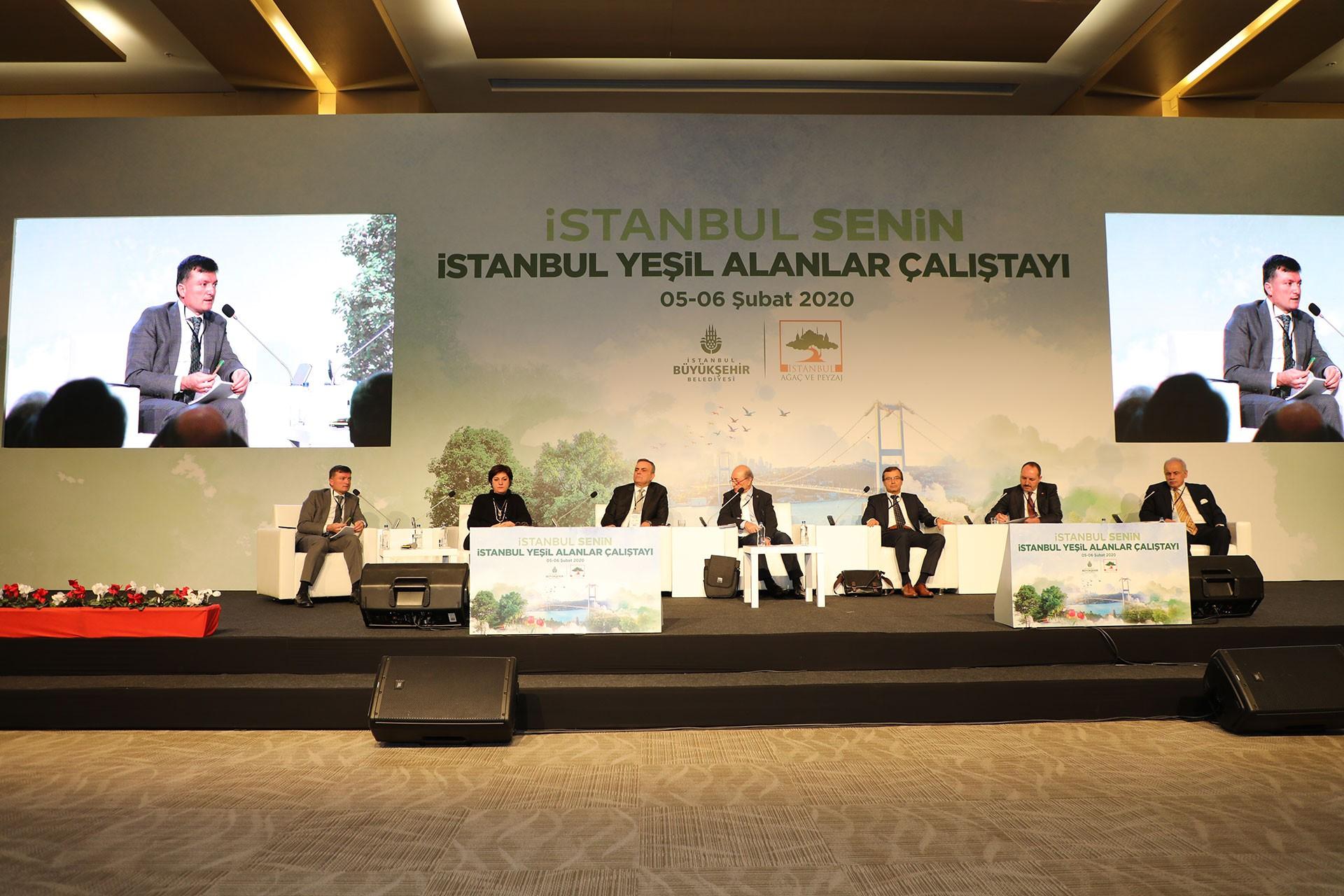 İstanbul Yeşil Alanlar Çalıştayı sahnesi