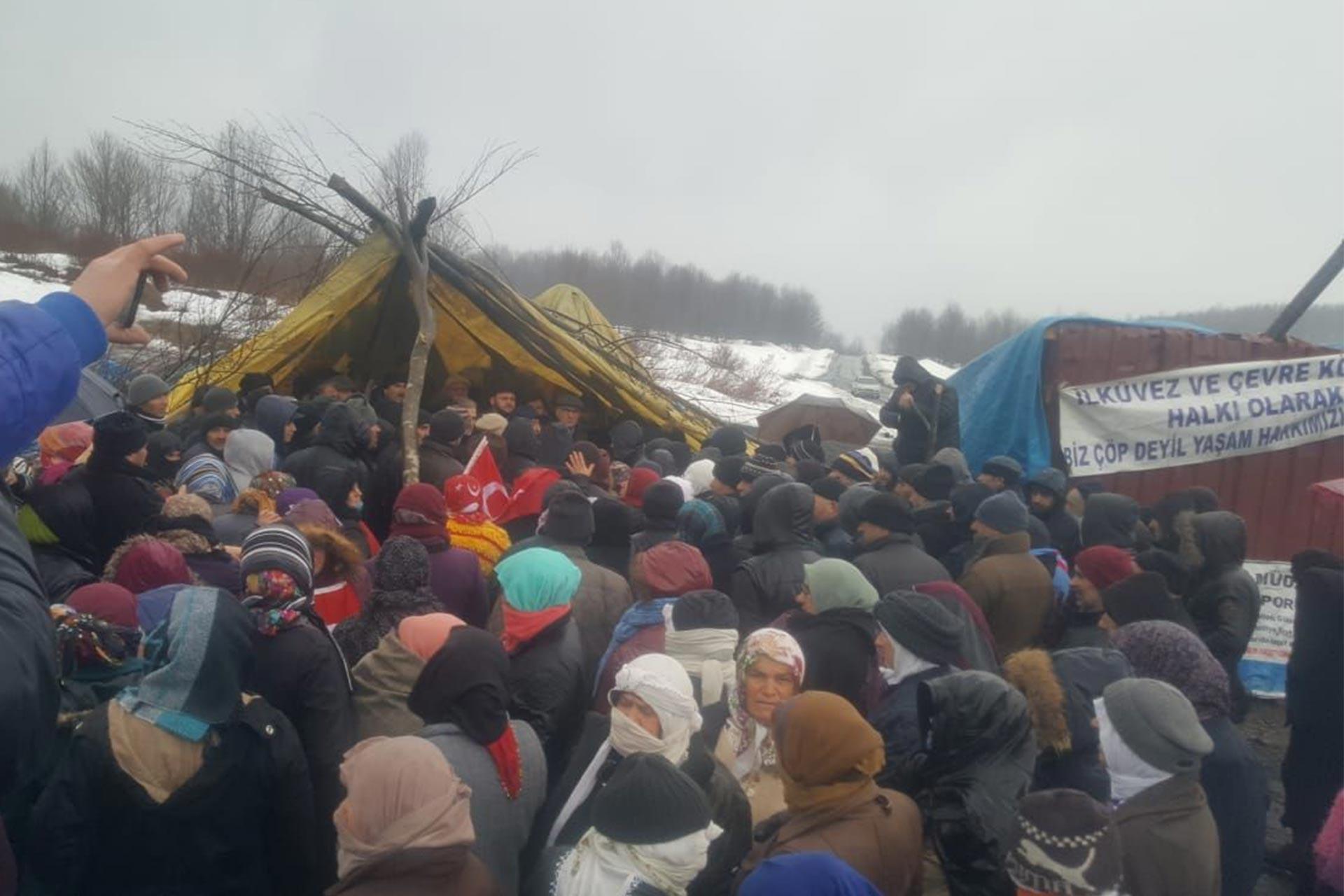 Ordu İlküvez'de halk çöp tesisine karşı direniyor