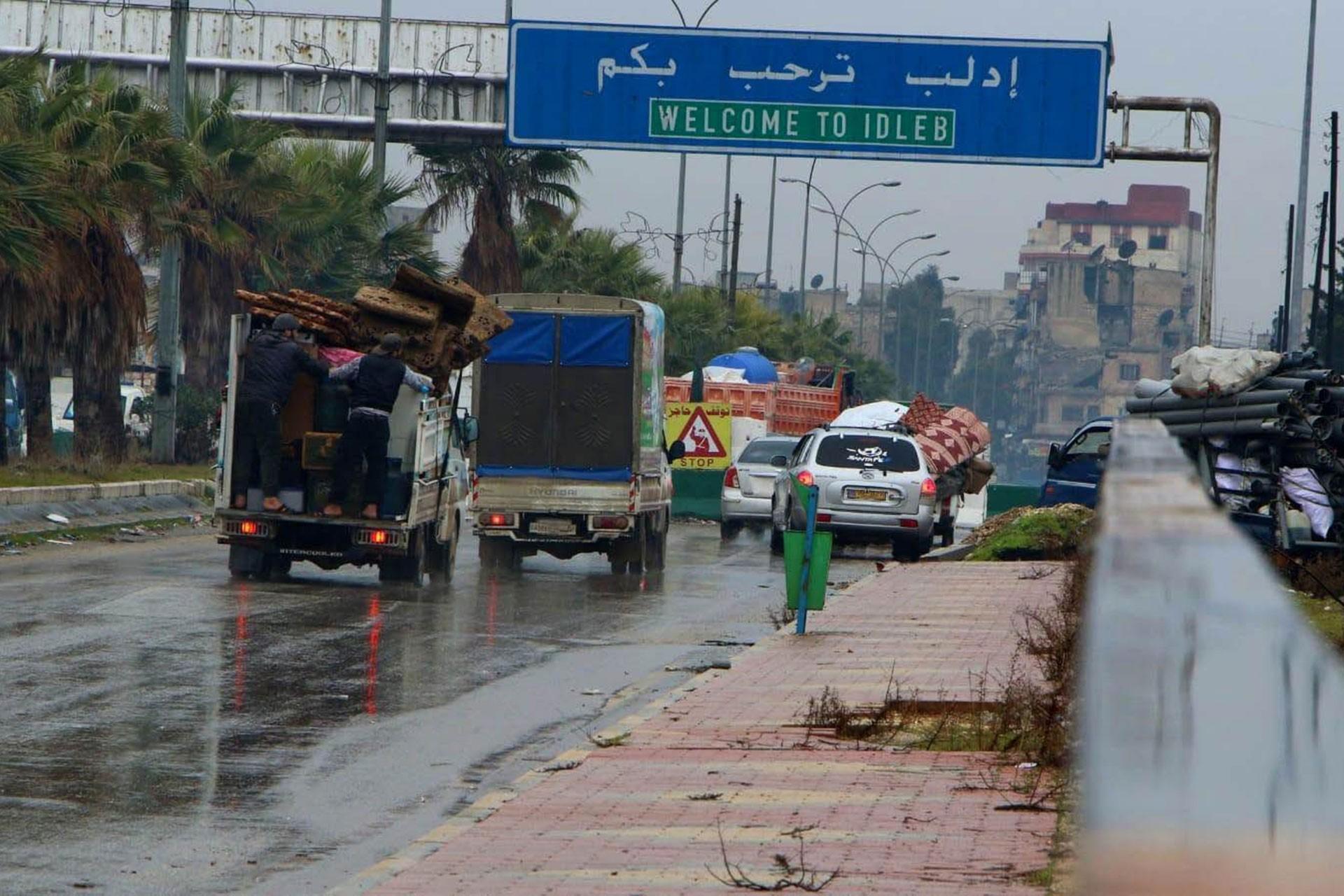 İdlib'in giriş tabelası