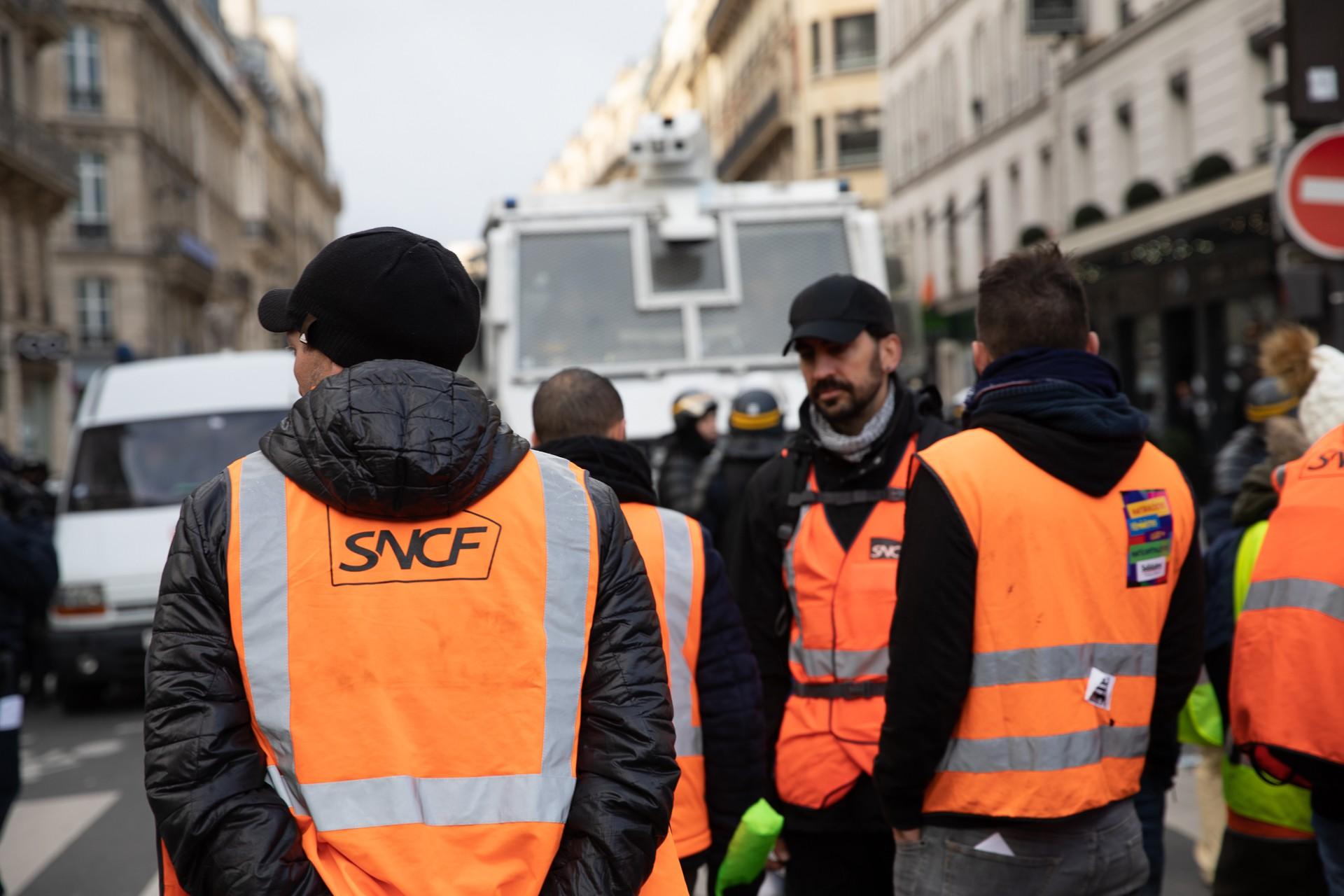 Fransa'da demir yolu işçileri