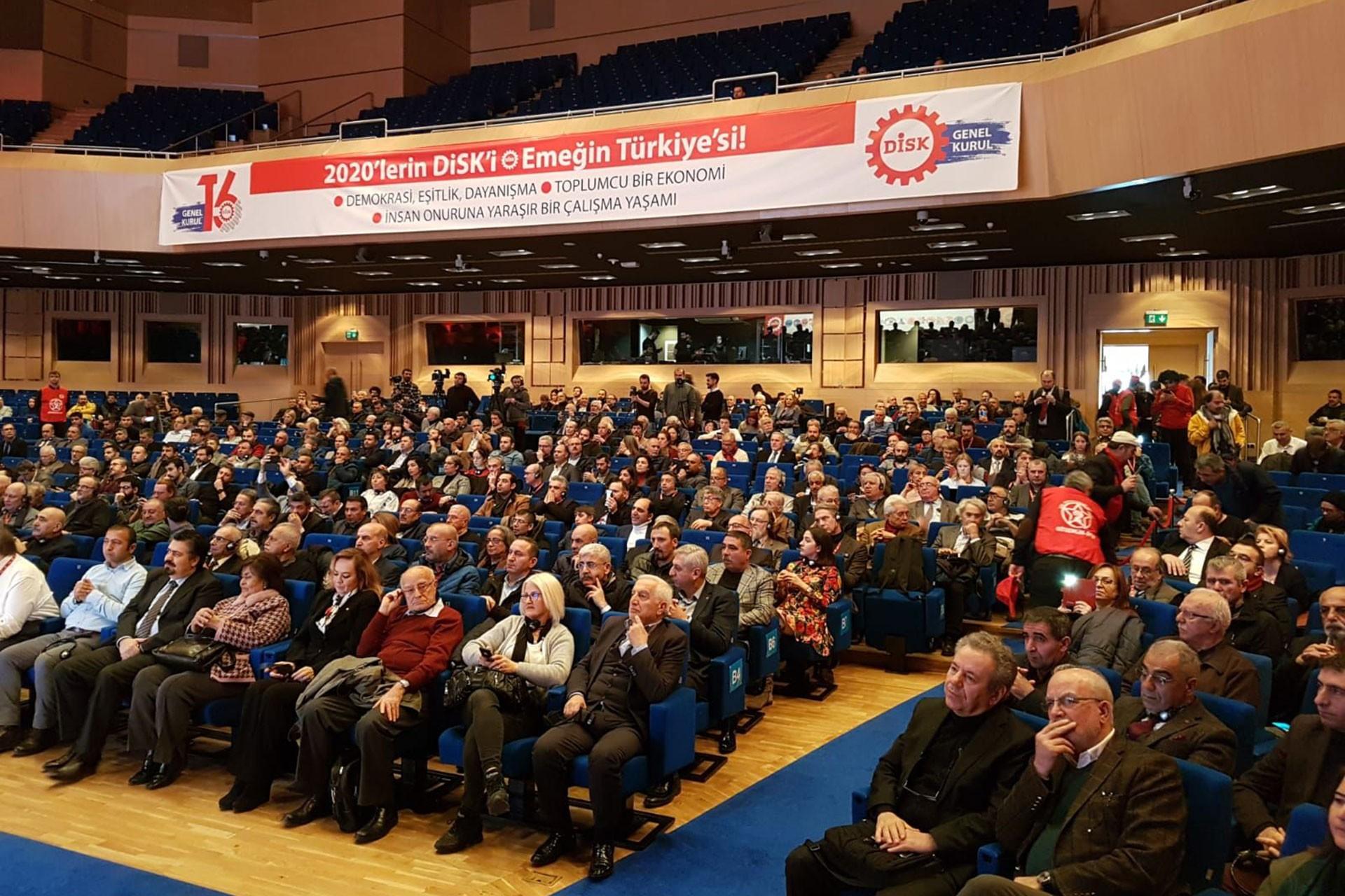DİSK'in 53. kuruluş yıl dönümünde yapılan konferans