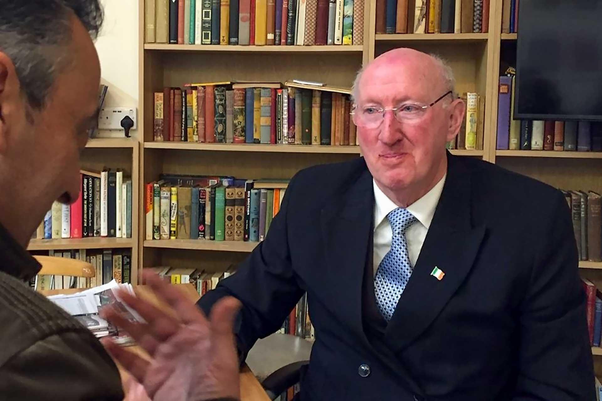 İrlanda Sivil Haklar Derneği Başkanı Jim Curran