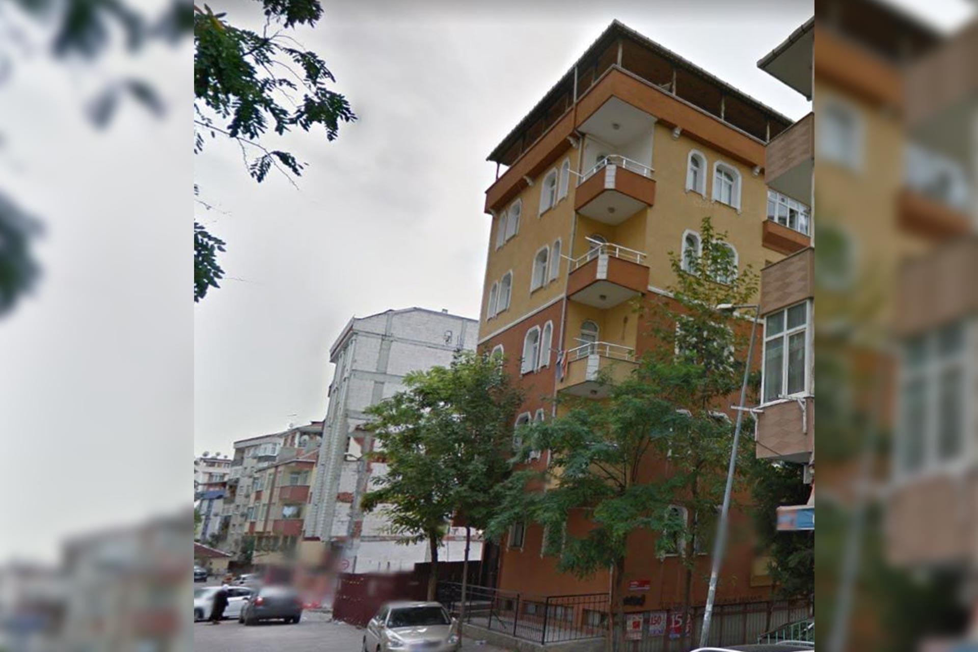 İstanbul Bahçelievler'de yıkılan binanın, yıkılmadan önceki hali