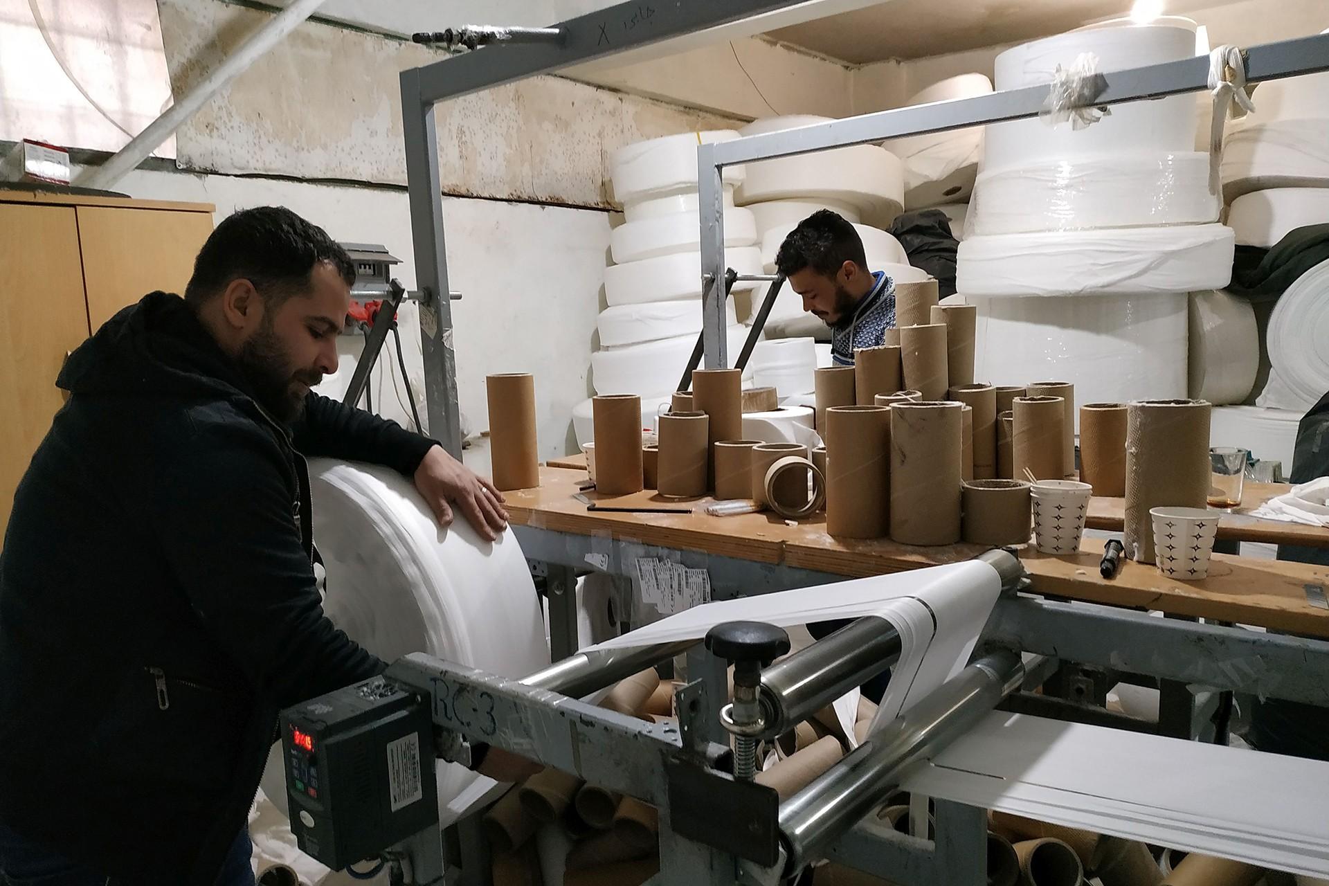 Çalışan Suriyeli işçiler