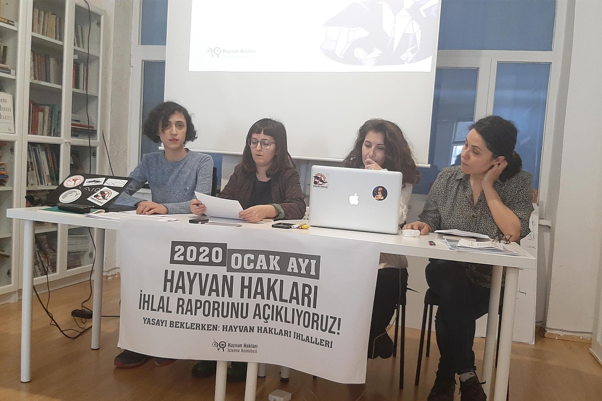 Hayvan Hakları İzleme Komitesi basın toplantısı