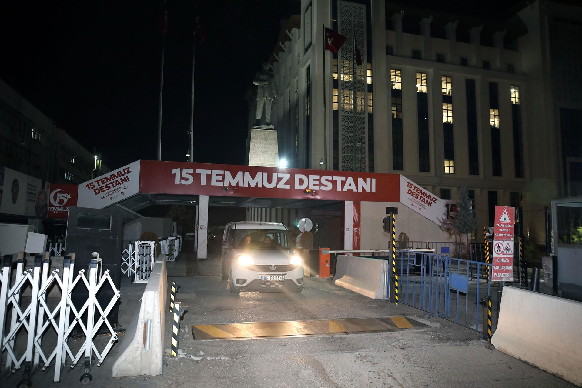 Ankara Emniyet Müdürlüğünün giriş kapısı