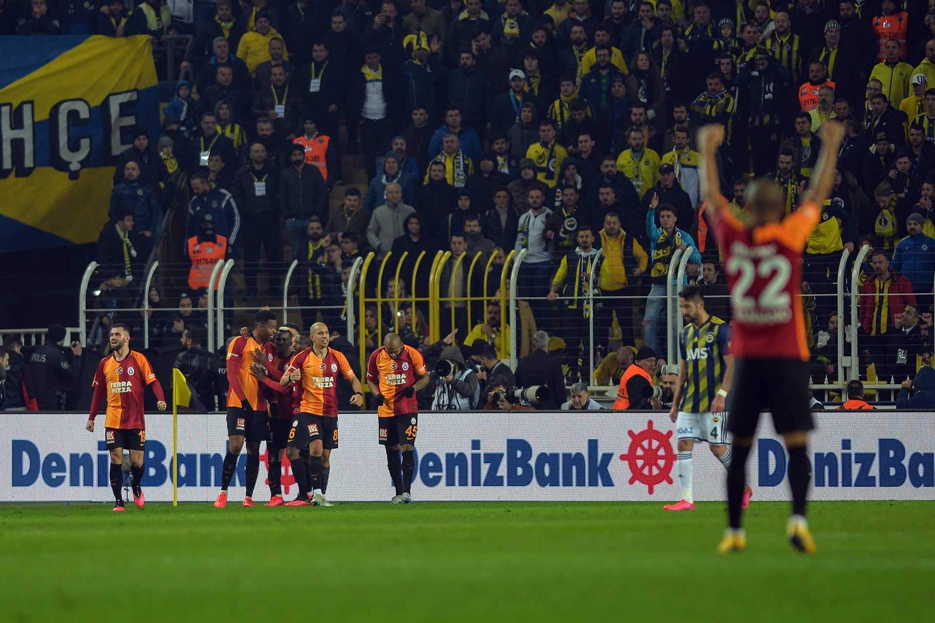 Galatasaraylı oyuncuların gol sevinci