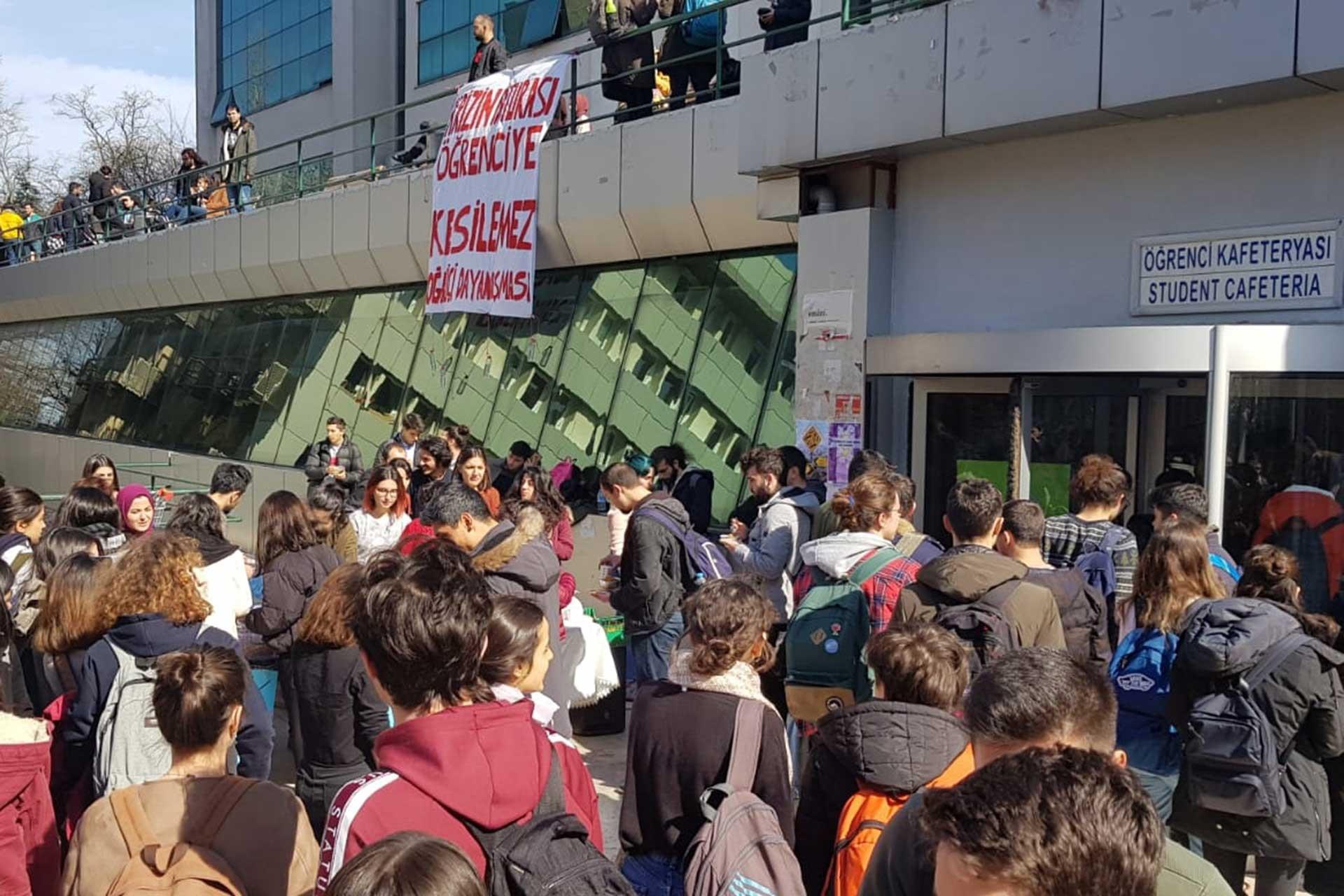 Boğaziçi Üniversitesinde yemekhane boykotu