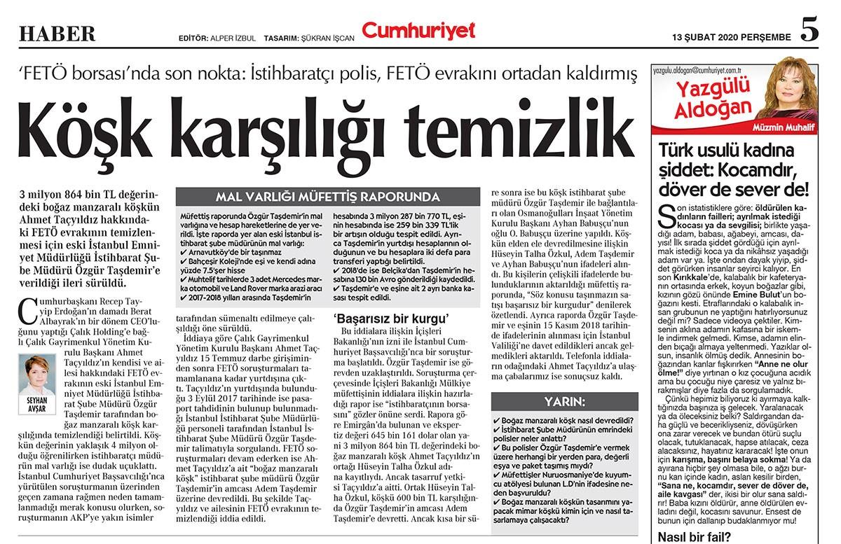 Cumhuriyet gazetesi nüshası