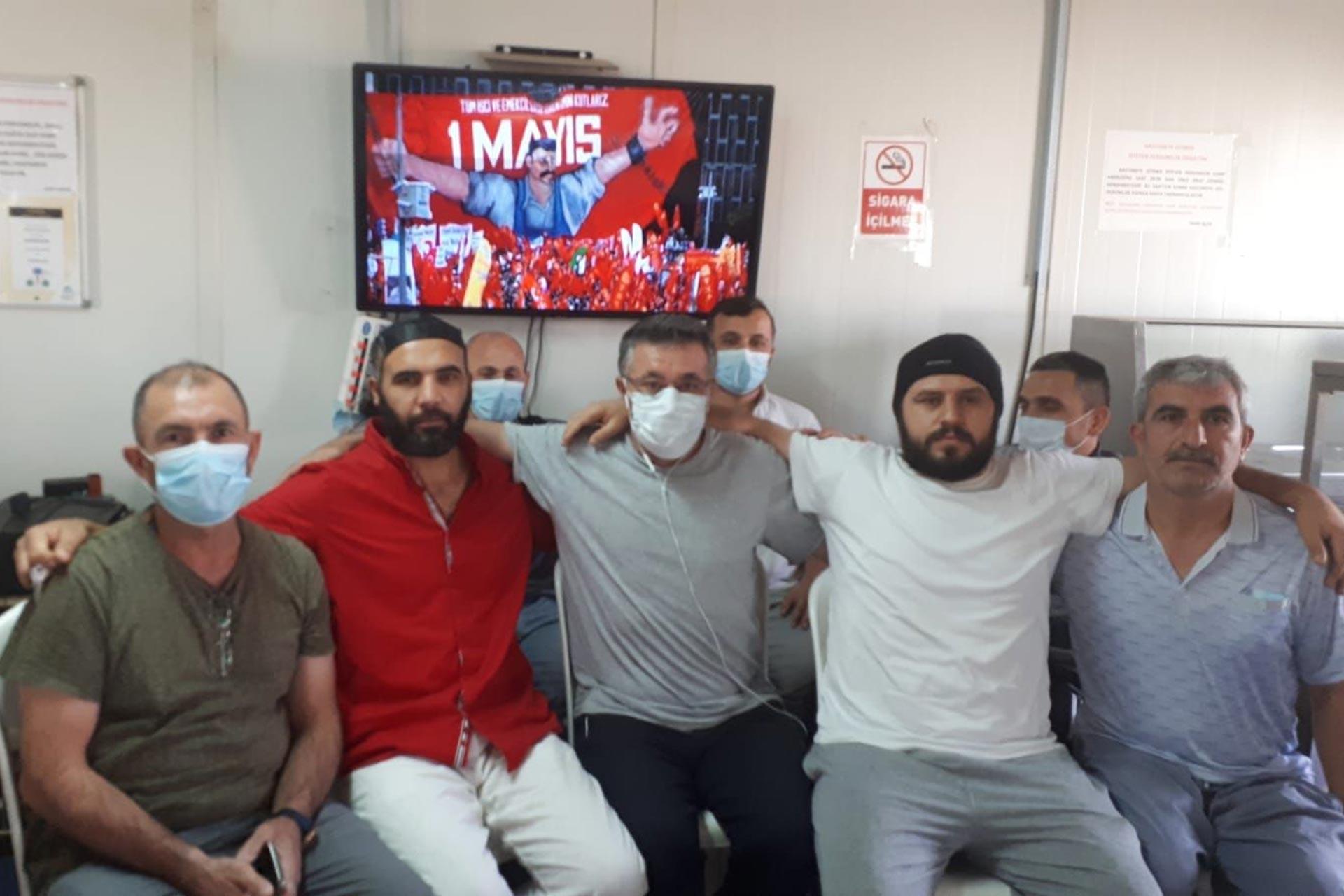 Riyad'da mahsur kalan inşaat işçileri