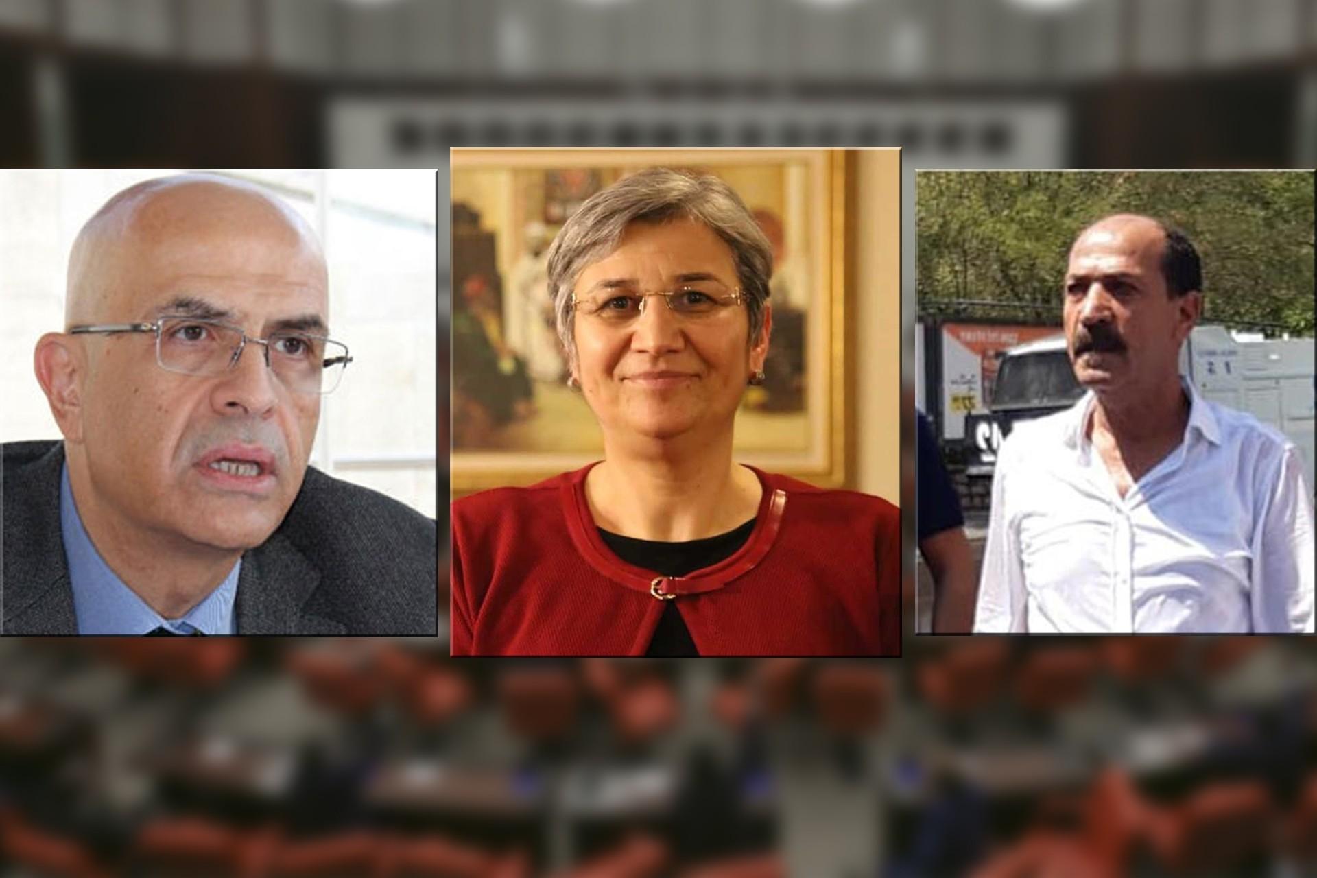 Milletvekillikleri düşürülen Enis Berberoğlu, Leyla Güven ve Musa Farisoğlulları'nın fotoğrafları.