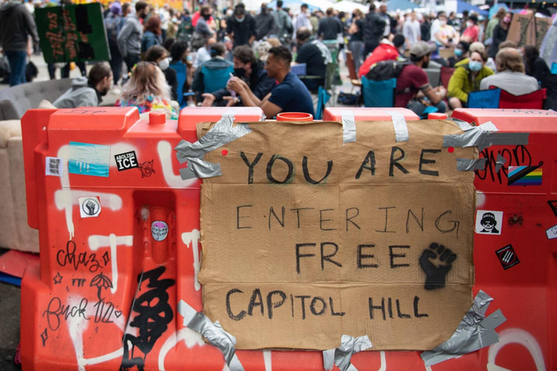 Capitol Hill'de özerk ilan edilen alan