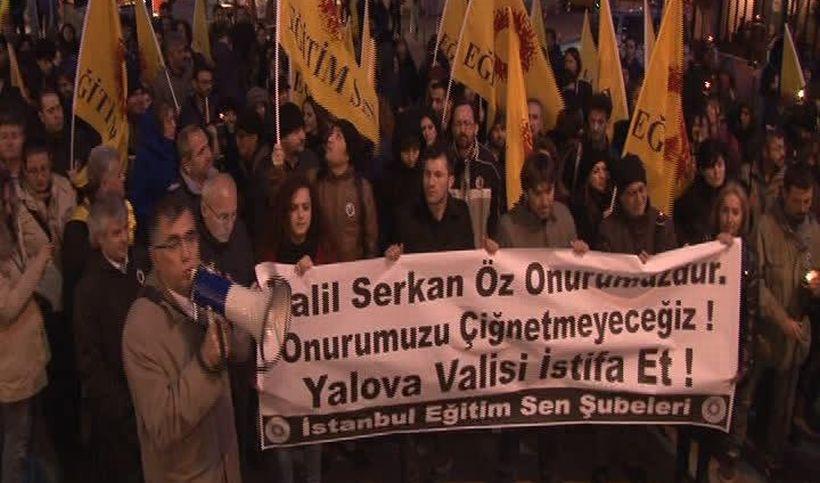 Eğitimciler, Yalova valisini istifaya çağırdı