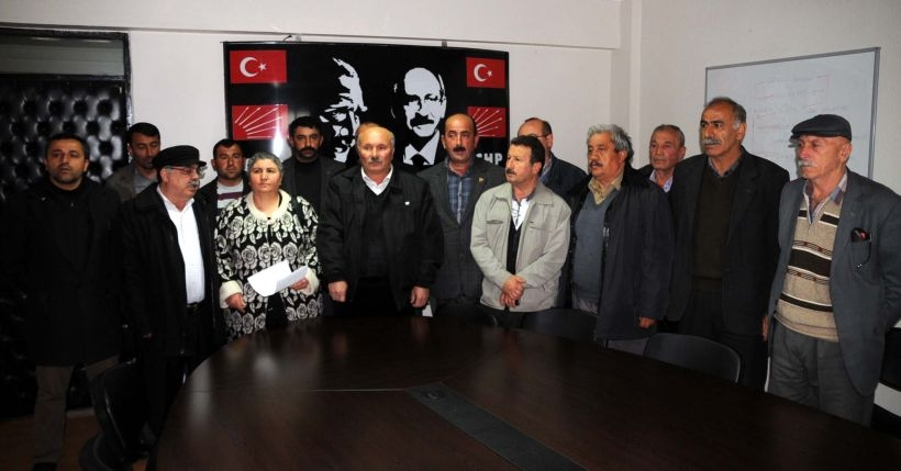 Tokat'ta CHP'lilerden liste tepkisi