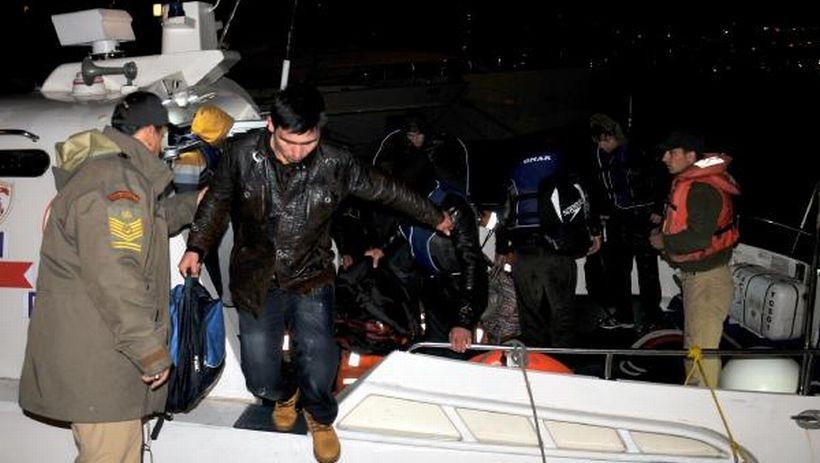 18 göçmen kurtarıldı