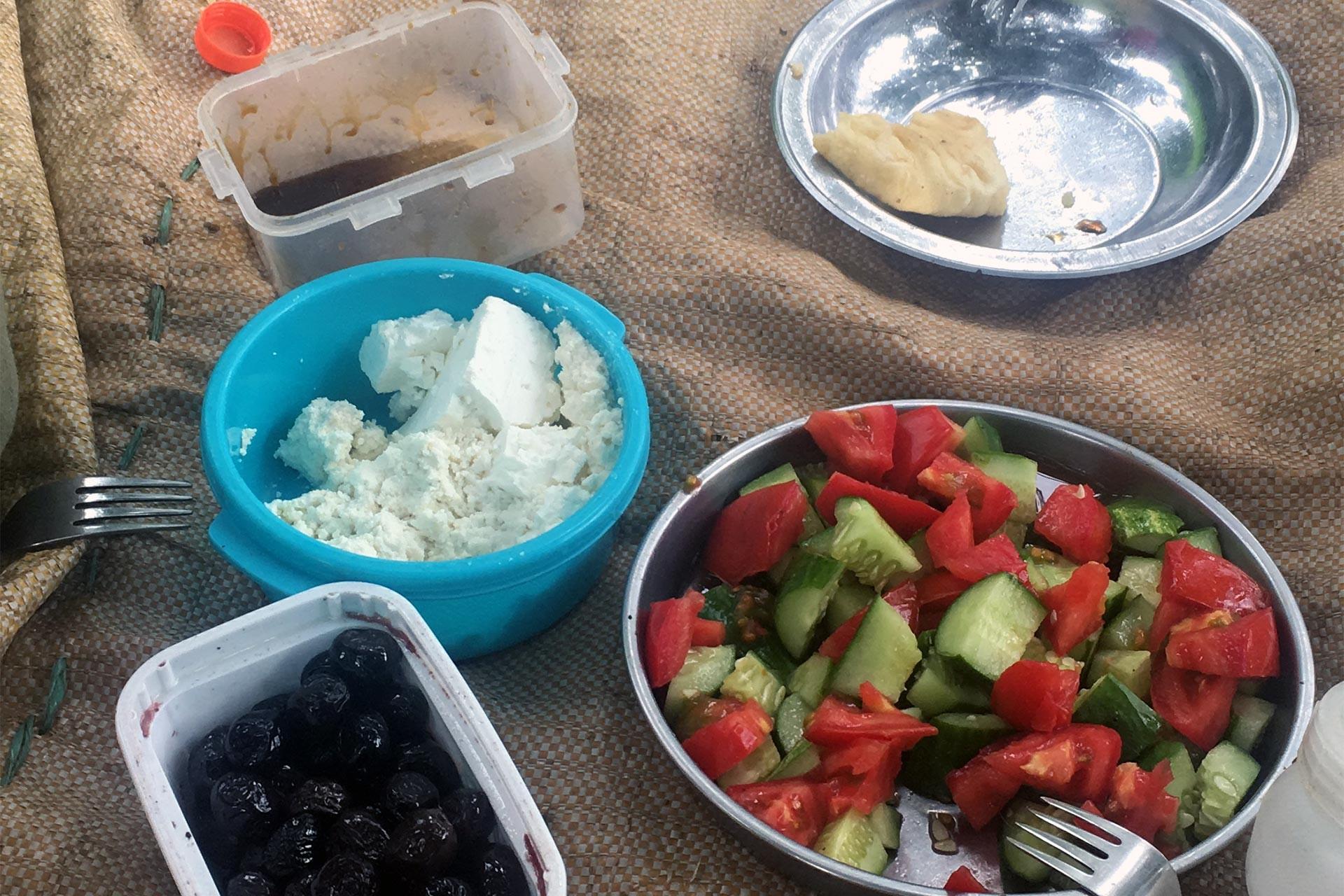 Tarım işçilerinin kahvaltısı