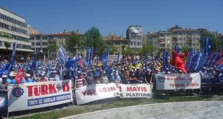 Trakya'da 1 Mayıs, 3 merkezde kutlanacak