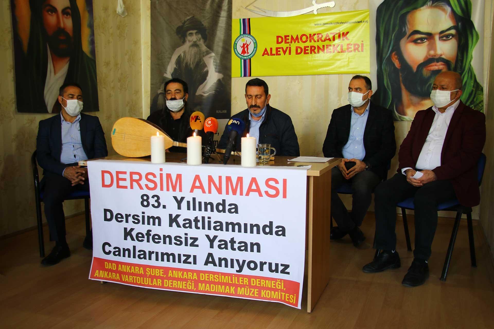 Ankara'da Seyit Rıza anma töreni